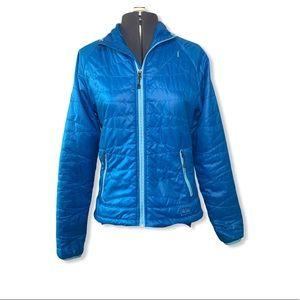 REI puffer pirmaloft jacket blue extra small